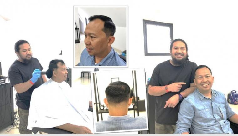 """Demi """"Passion"""", Henoch Sitompul Belajar Cukur Rambut hingga ke Amerika"""