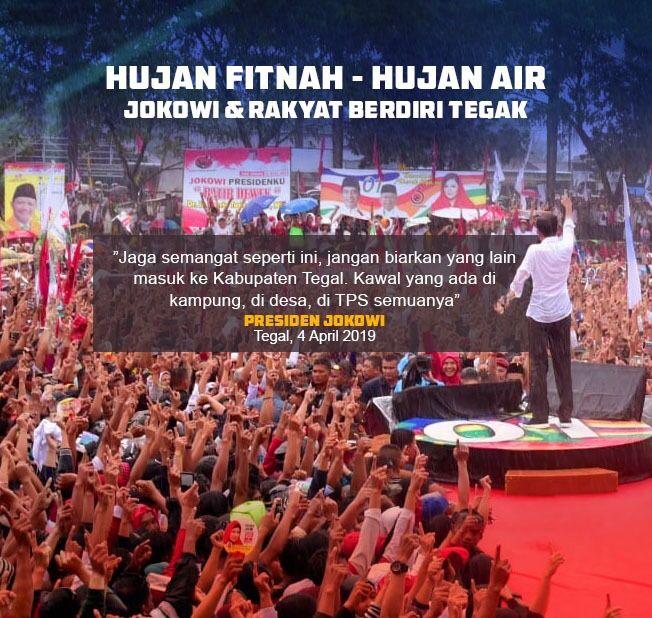 Di Balik Aksi Kampanye Hujan-hujanan Jokowi di Tegal