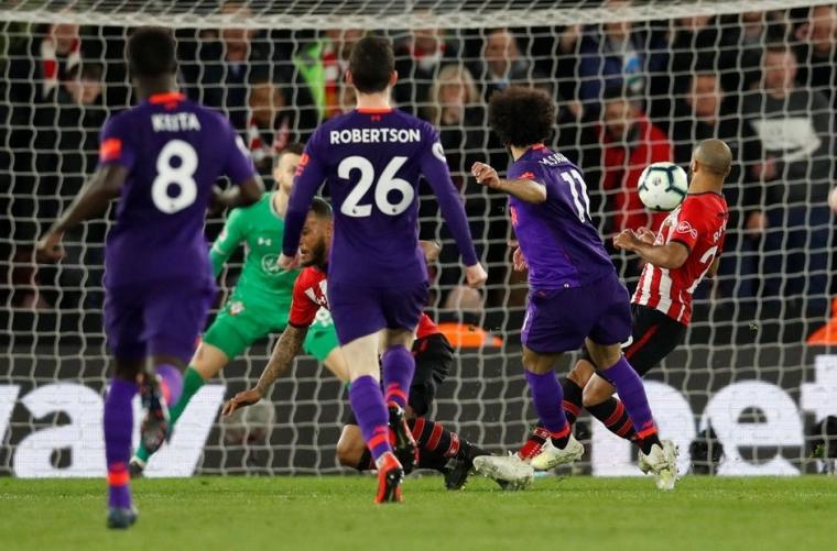 Laga Menegangkan Liverpool Vs Southampton di Saint Mary Stadium