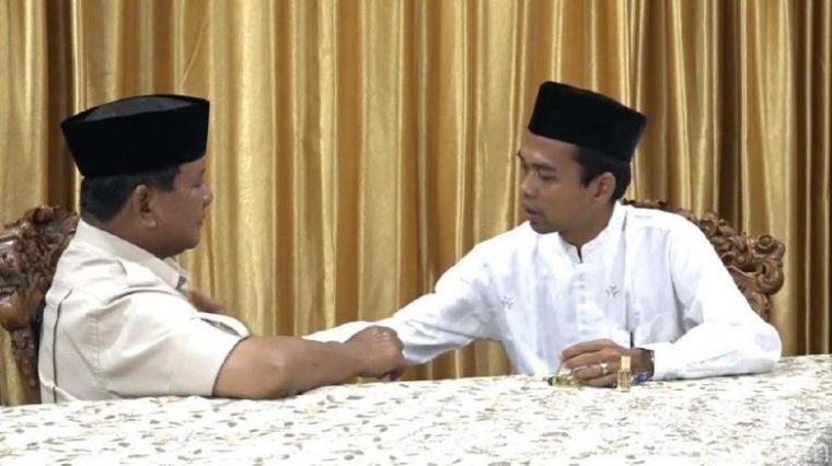 Dukungan UAS kepada Prabowo bagai Gong di Tikungan Terakhir