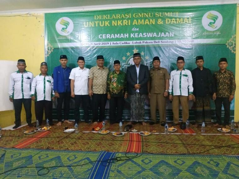 Deklarasi Generasi Muda Nahdlatul Ulama (GMNU) Sumatera Utara