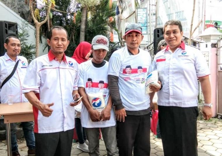 Bazar Beras Murah Partai Perindo Kota Mojokerto Habis Diserbu Masyarakat