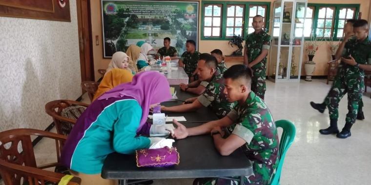 Screening Malaria Prajurit Yonif 406/CK