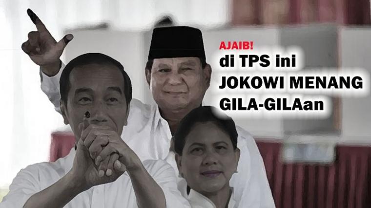 Hasil Perhitungan Suara di TPS Ini, Jokowi Menang Gila-gilaan