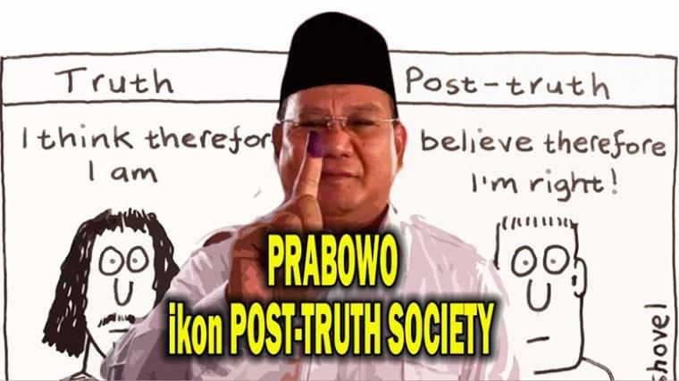 Prabowo Ikon Post-Truth Culture, dari Caranya Tanggapi  Survei dan Hasil Hitung Cepat