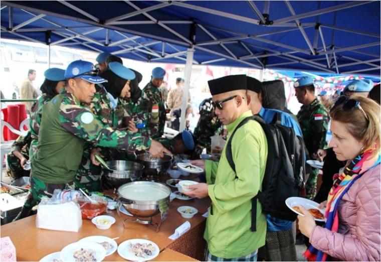 Kontingen Garuda UNIFIL 2019 Tampilkan Kuliner dan Khasanah Budaya Nusantara di Lebanon Selatan