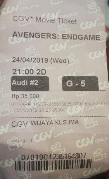 Ketika Saya Nonton Avengers Endgame Sendirian Oleh Dody Kasman