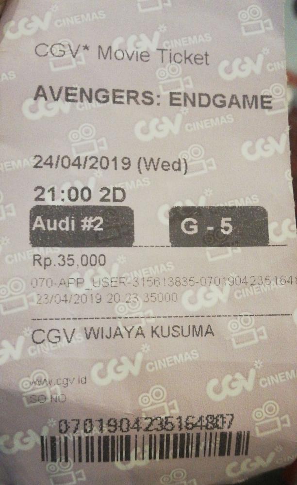 "Ketika Saya Nonton ""Avengers : Endgame"" Sendirian"