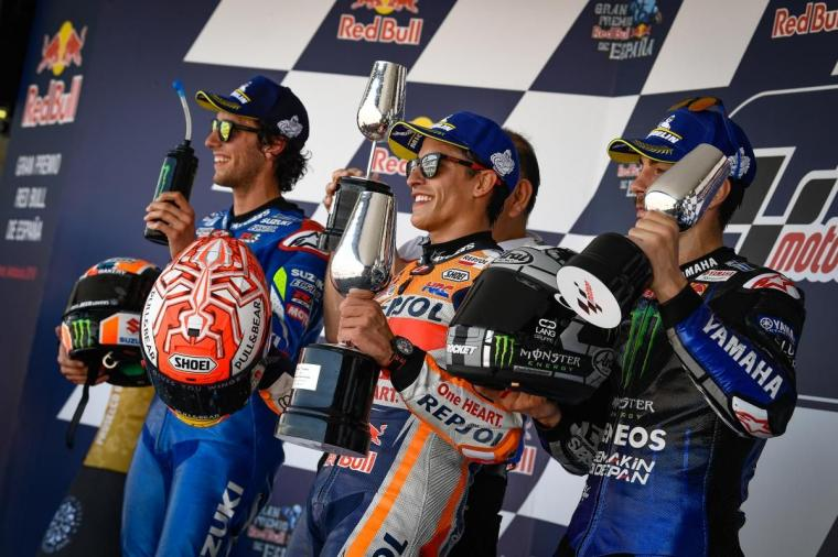 Marc Marquez Juara MotoGP Jerez, Rossi Hanya Mampu Finish ke-6