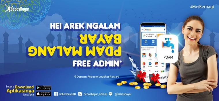 Gratis Biaya Admin untuk Pembayaran Tagihan PDAM Kota Malang, BebasBayar Mengawali Mei dengan Berbagi