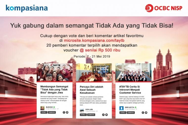 Yuk Gabung dalam Semangat Tidak Ada yang Tidak Bisa ala Bank OCBC NISP!