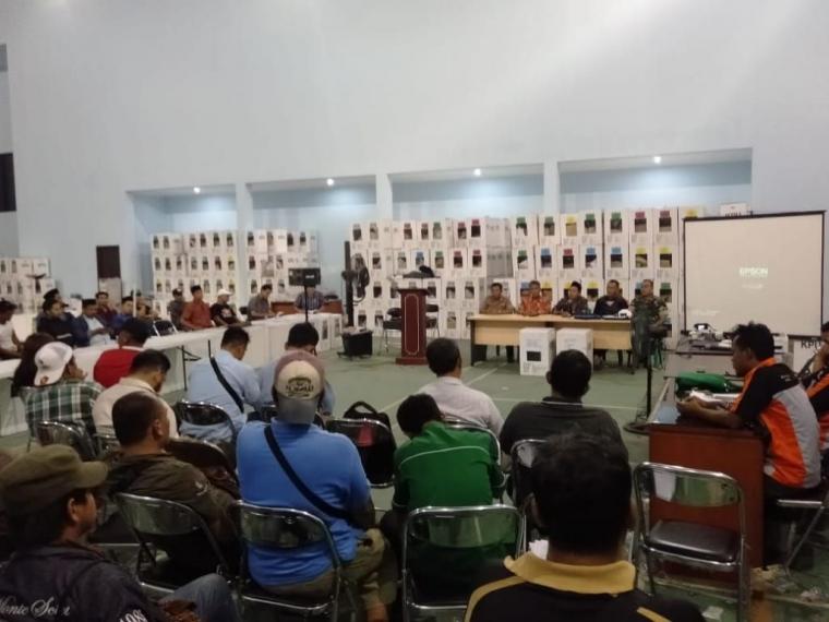 PPK Kecamatan Pinang Gelar RPTRHPPS Pemilu 2019 Tingkat PPK Kecamatan Pinang