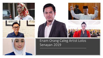 Deretan Artis Tersandung dan Tersanjung ke Senayan 2019