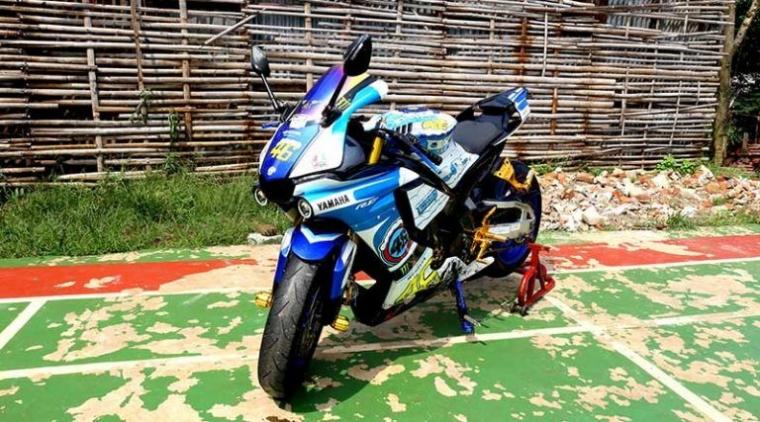 Vixion Diubah Jadi R1M, Inspirasinya dari Helm AGV Tavullia Milik Valentino Rossi