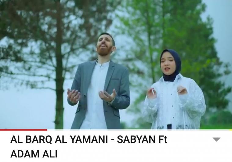 """Al Barq Al Yamani"", Kolaborasi Keren Sabyan dan Adam Ali"