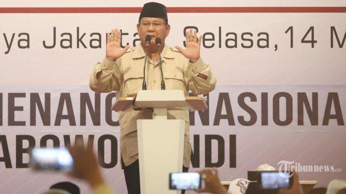 Tolak Hasil Pemilu, Prabowo Mau Diskualifikasi Diri Sendiri?