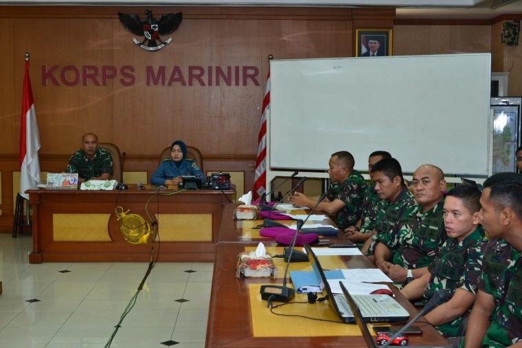 Korps Marinir Adakan Pelatihan Perhitungan Beban Kerja dalam Rangka Wujudkan Reformasi Birokrasi