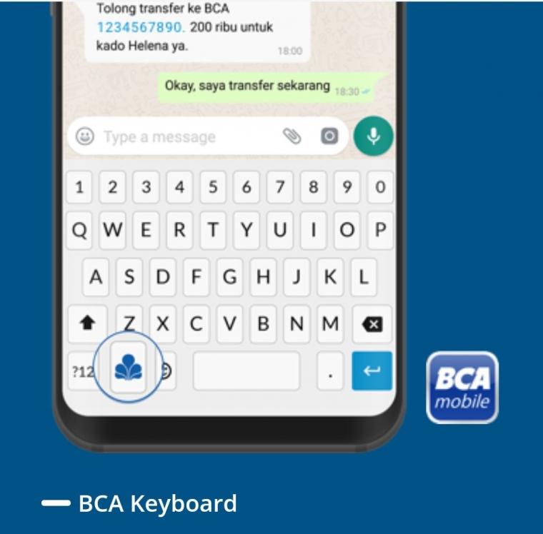 Melakukan Chatting dan Aktivitas Perbankan Secara Bersamaan dengan BCA Keyboard