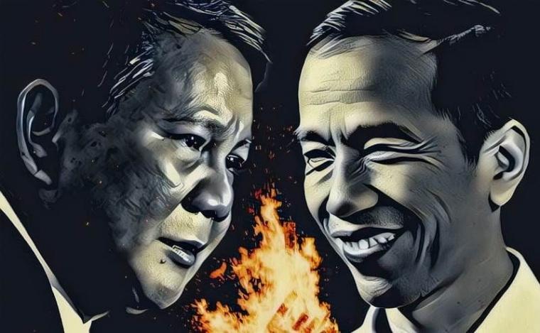 Jokowi Menang, Prabowo Menangis