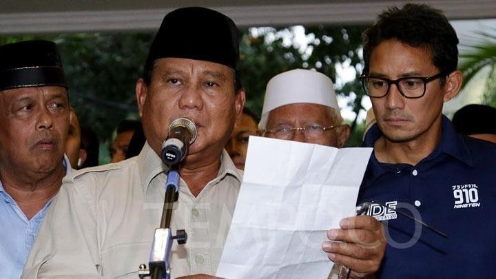 Momentum Unjuk Diri sebagai Pemimpin Disia-siakan oleh Prabowo-Sandi