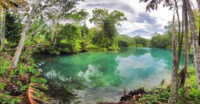 Bak Blau, Pesona Laguna Mata Biru di Pulau Enggano