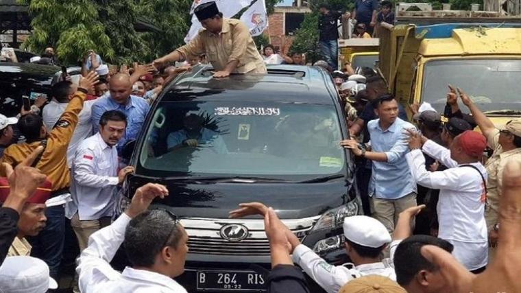 Benarkah Penyusup? Mobil Ketua GARIS Pernah Prabowo Pakai Kampanye