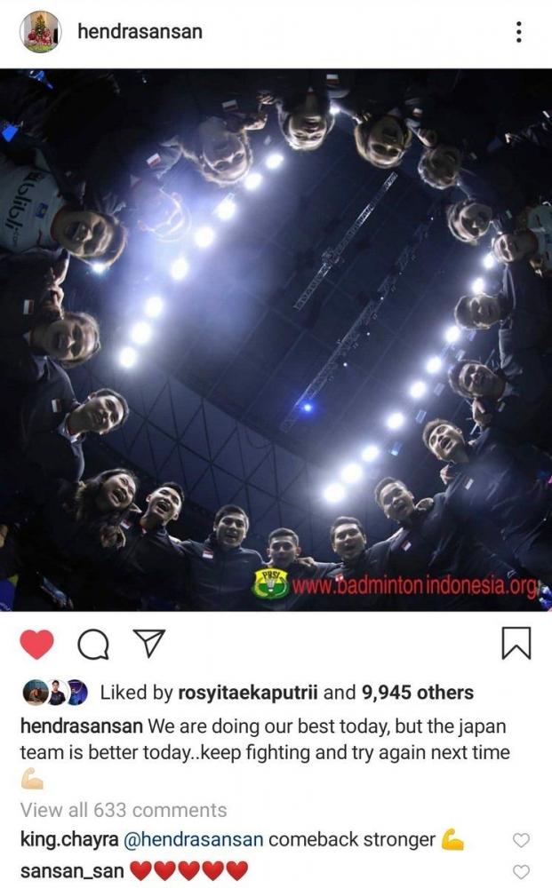 Asia Timur Juaranya Sudirman Cup 2019
