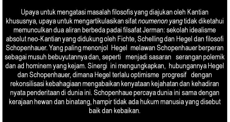 Pesimisme dan Penderitaan,  Filsafat Schopenhauer [1]