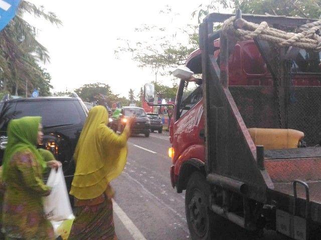 Modal Pappabuka, PC MNU Bantaeng Sapu Bersih Poros Jalan Negara