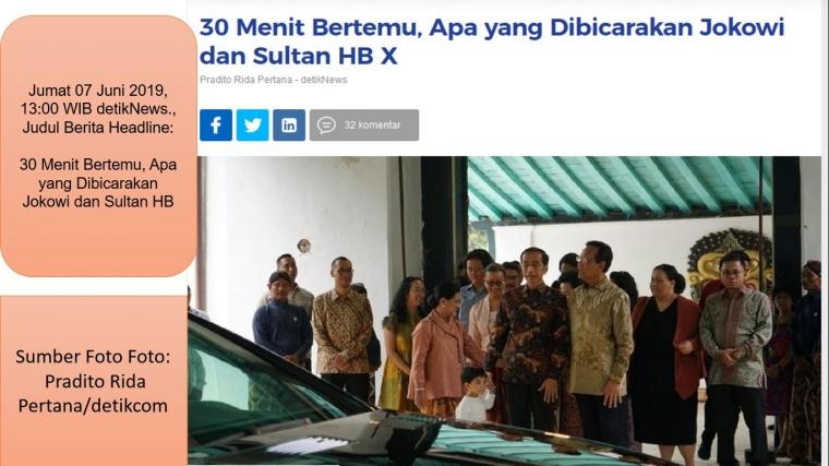 Meta Semiotika Perjumpaan Bapak Presiden dengan Raja Jawa Sultan HB X