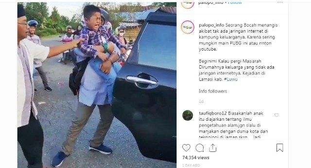 Kampung Halaman Tidak Ada Jaringan Internet, Bocah Nangis Histeris