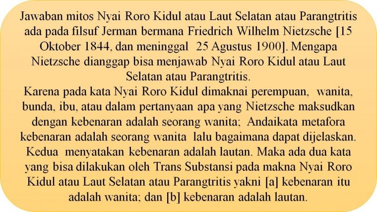 Episteme Nietzsche untuk Memahami Nyai Roro Kidul [1]