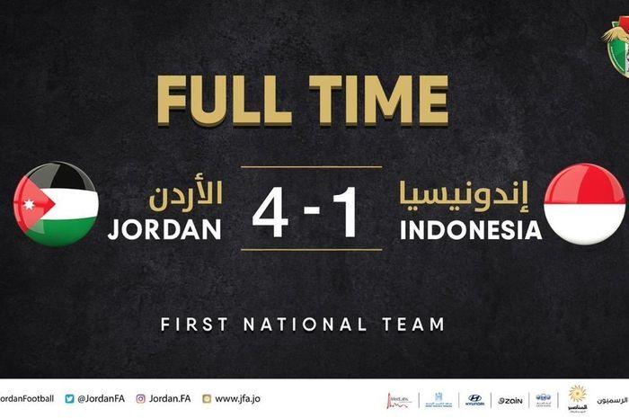 Indonesia Kalah Telak dari Yordania, Karena Coba-coba Pemain?
