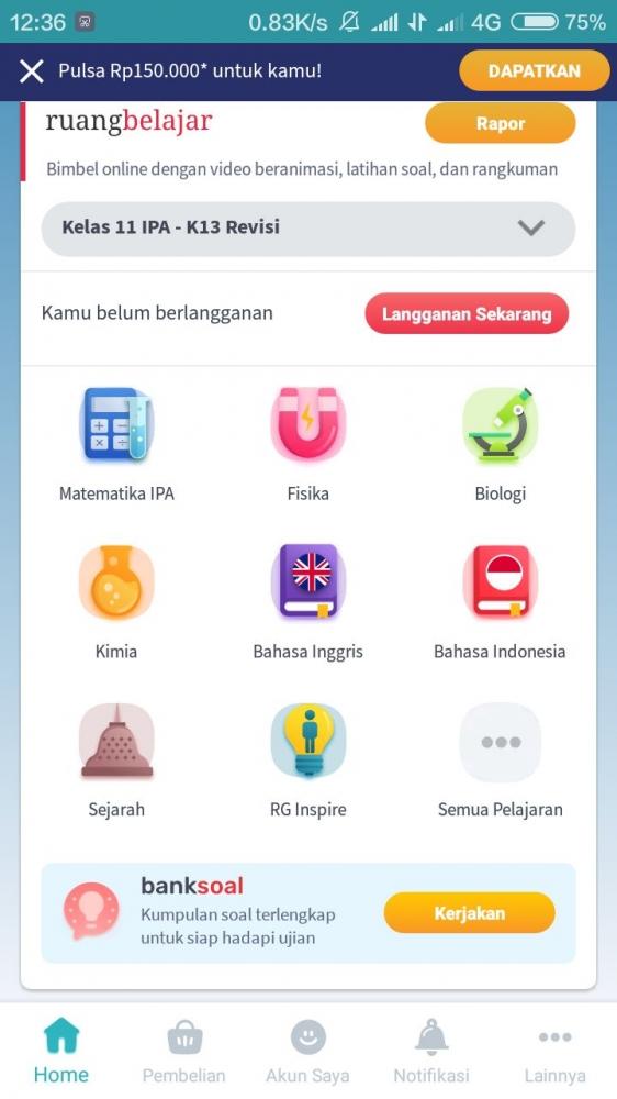 Bimbel Online Sambil Berjualan di Warung