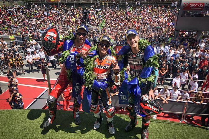 Marquez Menang Lagi dan Podium Pelipur Lara Yamaha dari Quartararo
