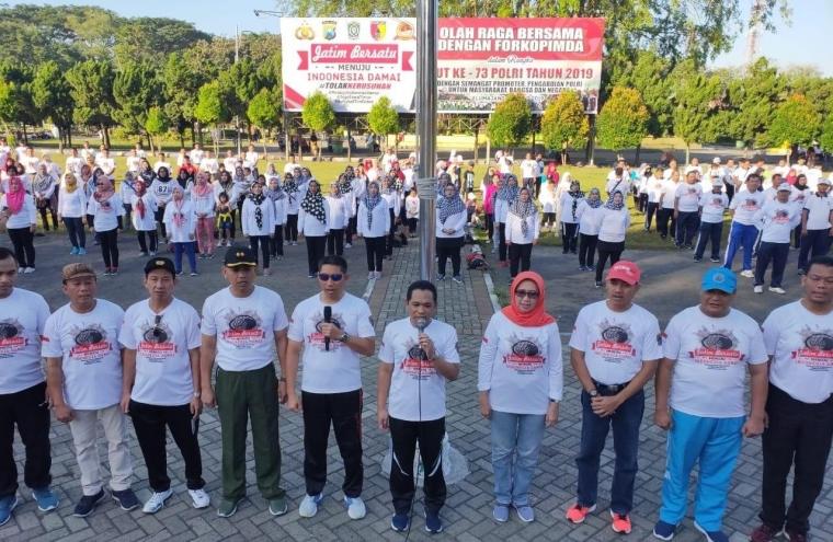 Forkompinda dan Ribuan Warga Lumajang Deklarasi Tolak Kerusuhan