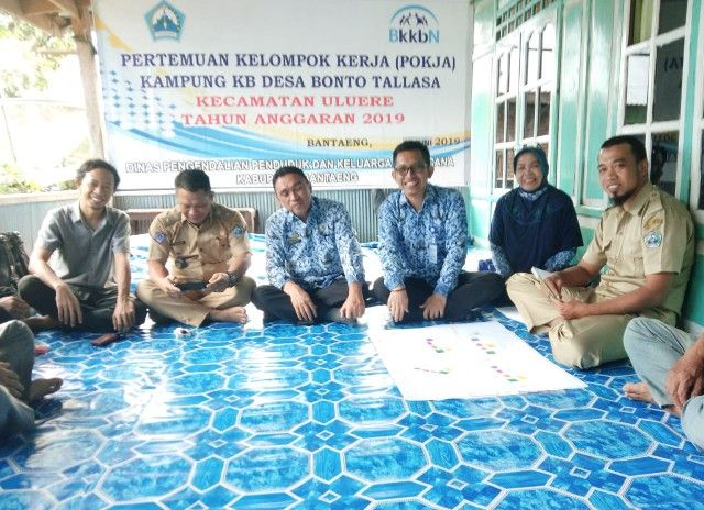 DPPKB Bantaeng-AMBAE Pressor Pokja Kampung KB Ulu Ere Paham Menulis