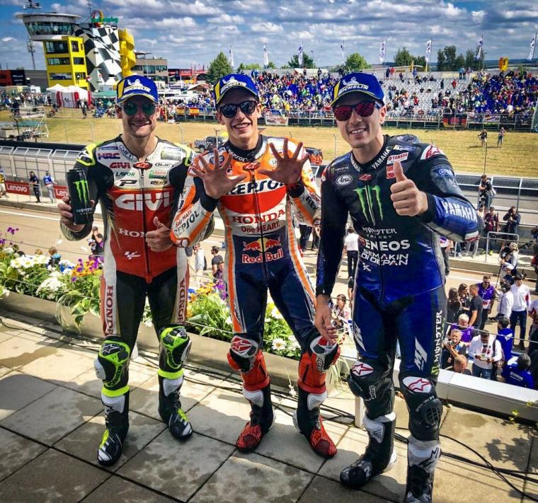 Menang Mudah di MotoGP Sachsenring, Marquez Jadi SachsenKing
