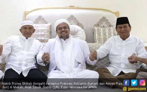 Amien Rais: Prabowo Nyelonong, FPI: Menunggu Arahan Habib Rizieq