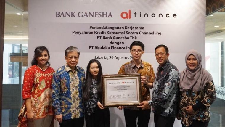 Bank Ganesha Jalin Kerjasama dengan Akulaku Finance Indonesia dalam Penetrasi Pasar Konsumer