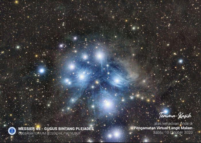 "Hadiah ""Bintang Tujuh Bidadari"" dari Observatorium Bosscha"