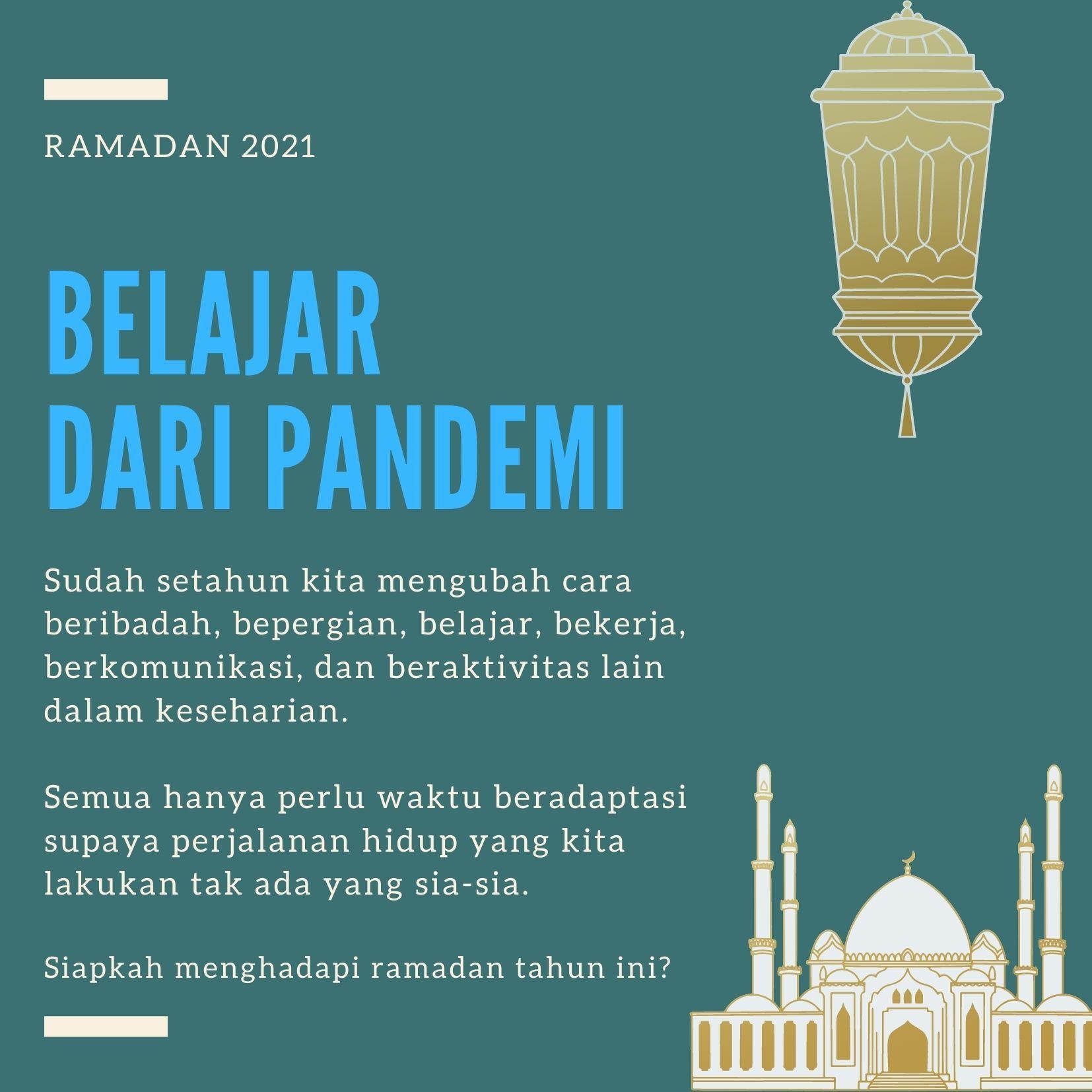 Ramadan 2021, Belajar dari Pandemi