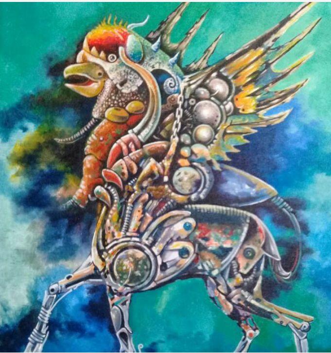 Koleksi Burock, Pohon Berlari, Mahkota Ikan (Lukisan Sithan Sale)