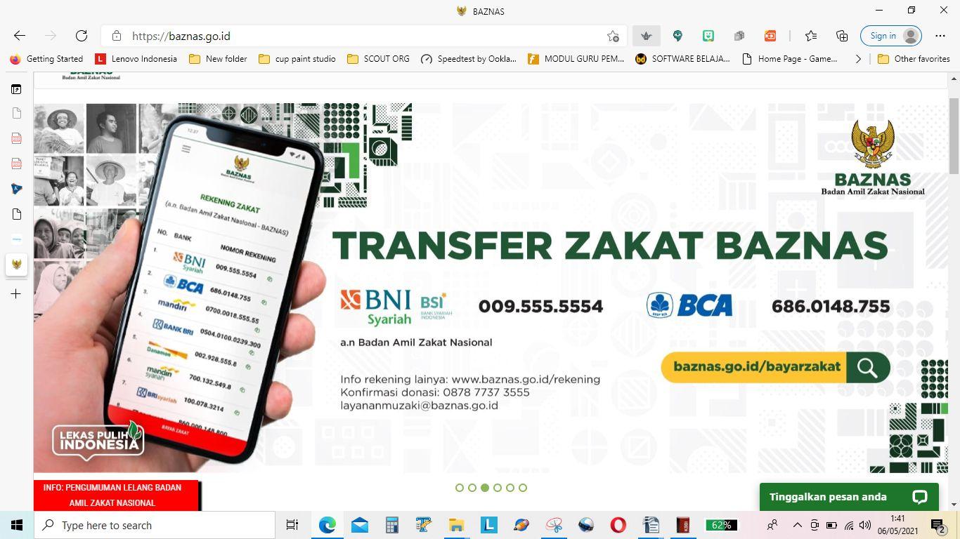 Bayar Zakat Online, ke BAZNAS Aja!