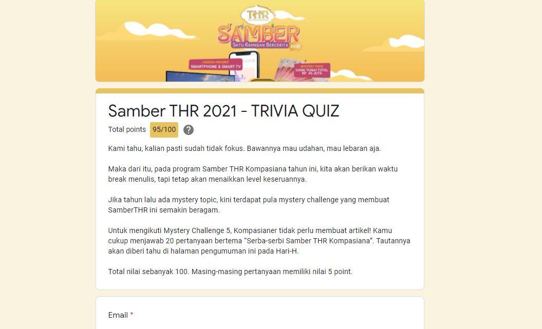 Trivia Quiz Samber THR Kompasiana yang Penuh Makna
