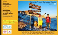 Mau Tahu Cara Mendaki Gunung Kilimanjaro? Gabung Zoom Koteka, Yuk?