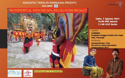 "Simak ""Wonderful Indonesia: Reog Ponorogo"" Sabtu Ini!"