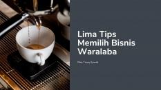 Lima Tips Memilih Bisnis Waralaba