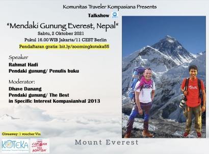 Simak Rasanya Mendaki Gunung Everest dalam Kotekatalk-55 Sabtu Ini