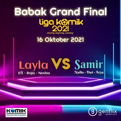 Sore Ini Babak Grand Final Liga KOMiK 2021, Ayo Berikan Dukungan ke Tim Jagoan Kalian!